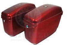 Hard Saddle bags BURGUNDY RED GA fits C50 V Star Shadow Vulcan VTX Road Spirit