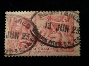 Grossbritannien-1913-1918-MiNr-142-Freimarke-Koenig-George-V-und-Britannia