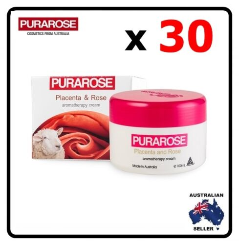 Purarose 30 x Placenta & Rose Aromatherapy Cream 100ml