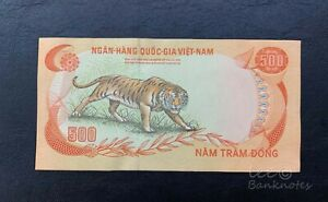 VIETNAM-South-1972-500-Dong-AU-UNC-no-fold-minor-handling-only