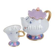 Beauty And The Beast Tea Set Mrs Potts Chip Teapot Ceramics Tea Pot + 1 Cup Gift