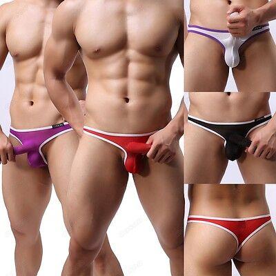Men's Sexy Strip Thongs Nightwear Breathable Sheer G-string Underwear M L XL