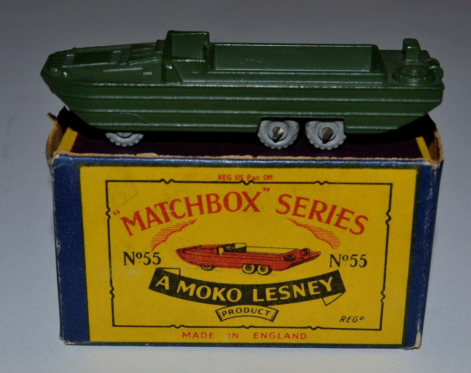 Matchbox Regular Wheels No 55a DUKW Amphibian in original box