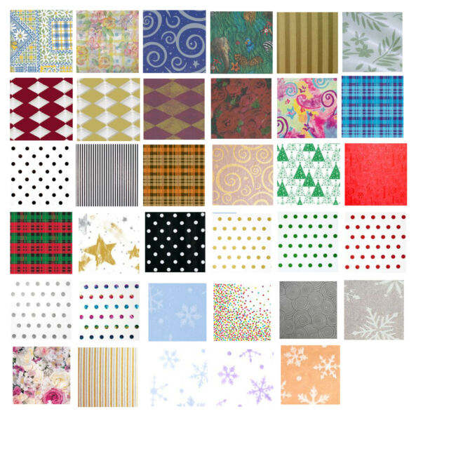 Printed Patterned Tissue Wrapping Paper luxury 5 sheets 20 designs you choose