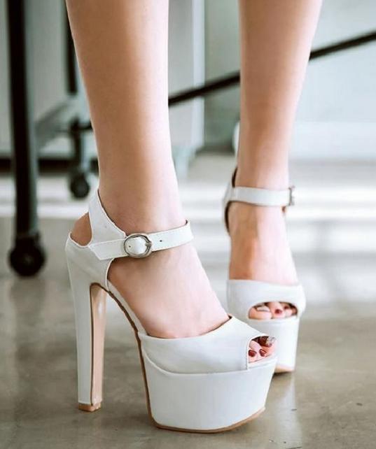 Women Peep Toe Shoes Shoes Toe Synthetic Leather Platform High Heels Pumps Sandals Plus Sz 635d34