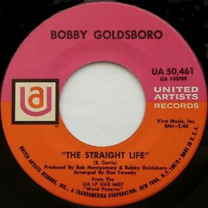 BOBBY-GOLDSBORO-The-Straight-Life-Tomorrow-Is-Forgotten-7-034-45rpm-1968