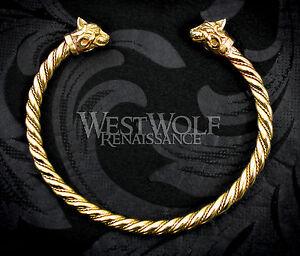 Image Is Loading Viking Or Celtic Cat Bracelet Torc Torque Norse