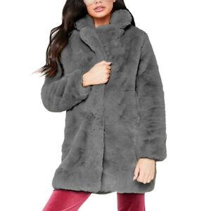 more photos 2fbc0 17cc5 Details zu Damen Jacke Mantel Lang Lapel Plüsch Loose Fleece Faux Fur Tops  Winter Coat Warm