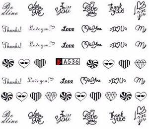 Accessoire-ongles-nail-art-Stickers-decalcomanie-Coeurs-love-Saint-Valentin