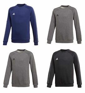 Boys-Adidas-Core-Sweatshirt-Sweat-Tracksuit-Top-Round-Fleece-Jacket-Winter
