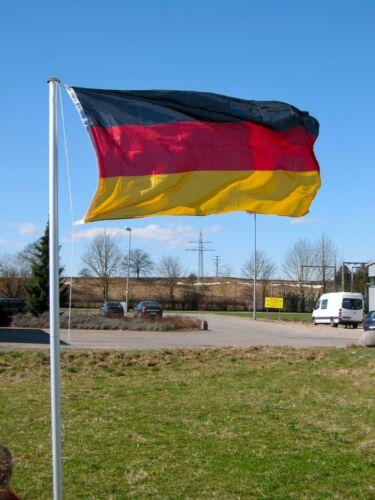 Fahnenmast Aluminium 4m inkl Deutschlandfahne Telsekopmast Flaggenmast