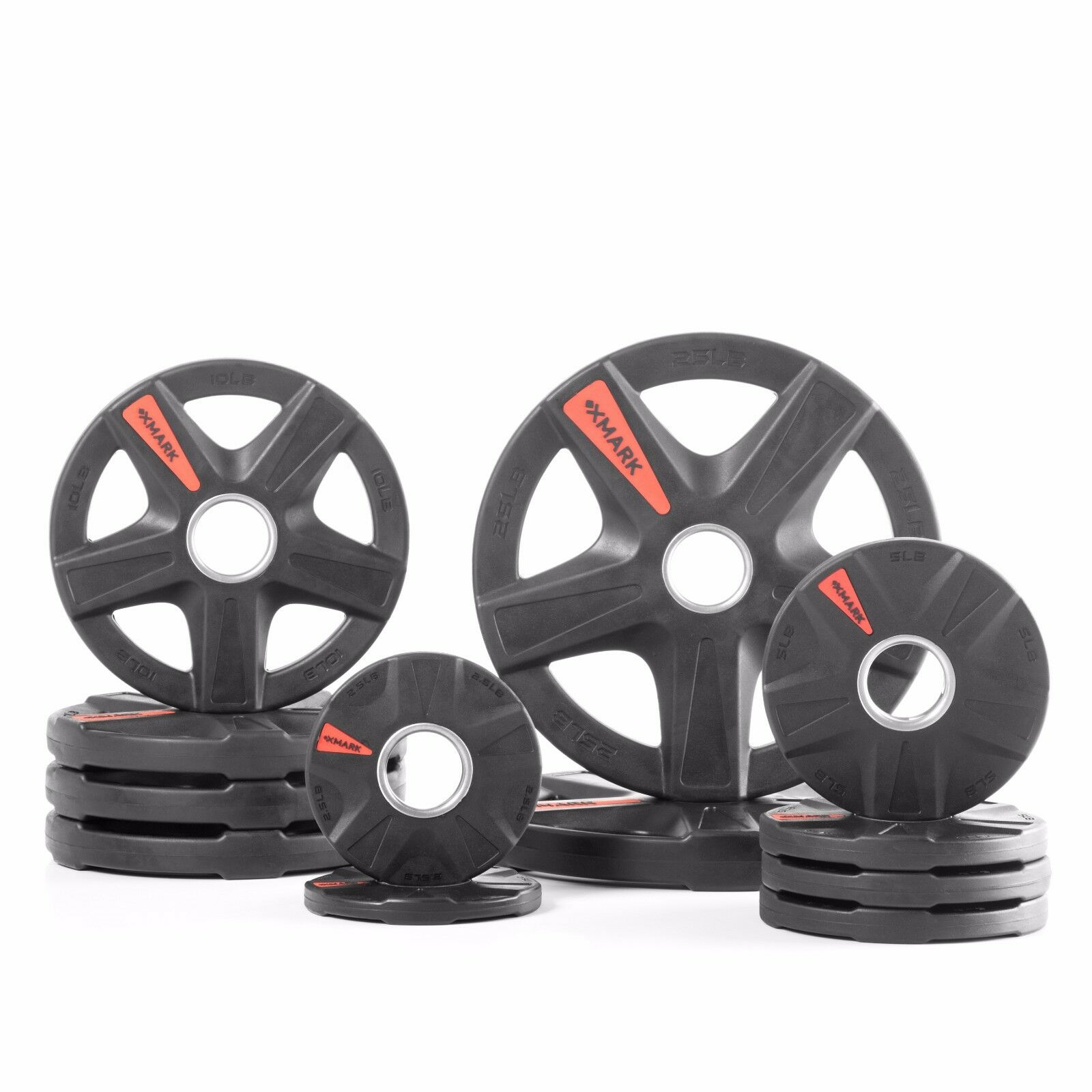 XMark's TEXAS STAR 115 lb. Select Rubber Coated Olympic set XM-3389-BAL-115