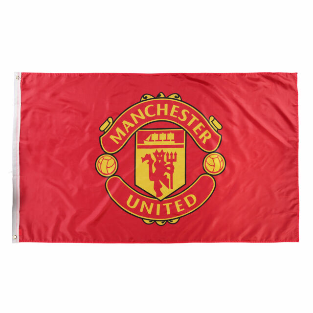 Manchester United Crest Football Sports Flag 5 x 3ft
