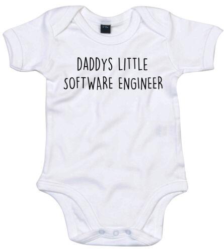 Ingeniero de software Traje de Cuerpo Regalo Personalizado Papi está pequeño bebé crezca