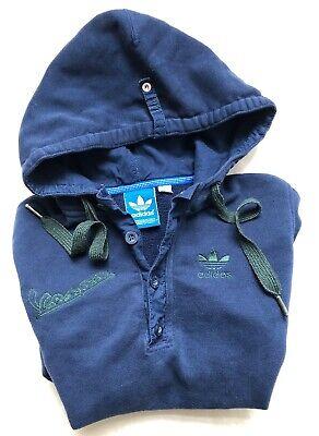 detrás micrófono Cuerpo  Adidas Azul Marino Vespa Verde Oscuro Trébol Botones Jersey Sudadera Con  Capucha Talla XS   eBay