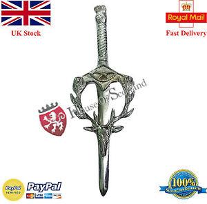 Homme Kilt /Écossais Broche T/ête de Cerf Divers Finition 4// Celtique Broches /& Broche Antique Chrom/é