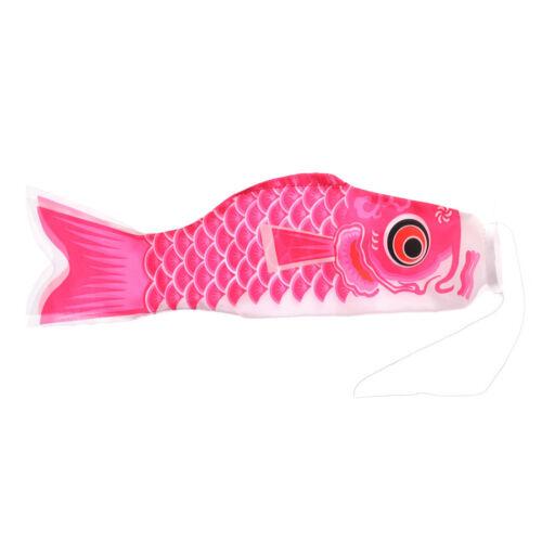 Fashion Japanese Koi Carp Wind Sock Fish Flag Kite Garden Yard Hanging Decor Hv