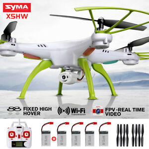 SYMA X5HW 2.4G 4CH Gyro RC Quadcopter Drone with HD WIFI Camera Headless FPV RTF