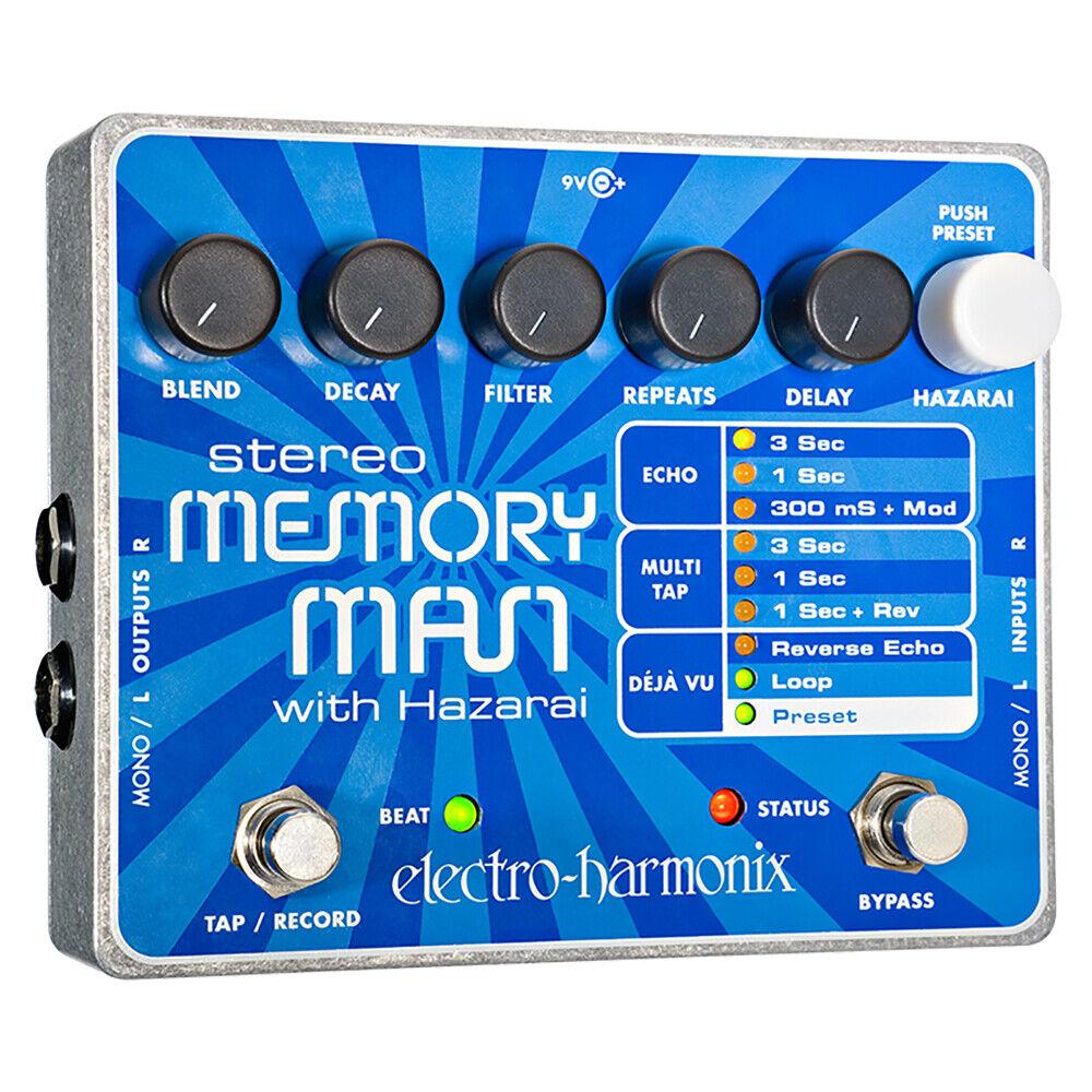 Electro-Harmonix Stereo Memory Man w  Hazarai Delay Looper Guitar Pedal