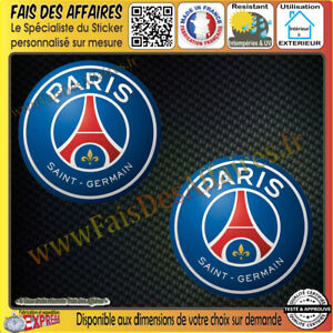 2-Stickers-Autocollant-adhesif-PSG-paris-saint-germain-foot-football