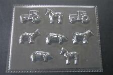 FARM TRACTOR HORSE PIG ANIMALS Chocolate Candy Soap Clay Cupcake Mold