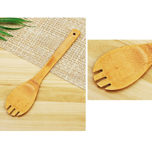 5pcs Wooden Cooking Spoons and Spatulas Bamboo Utensil Set Cookware Tool