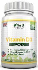 Vitamin D3 10000iu High Strength 365 Soft Gel capsules Vitamin D 10,000iu Vit d