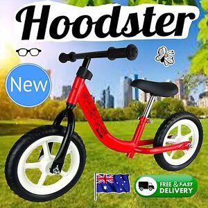NEW-12-034-Girls-Boys-Children-Balance-Bike-Red-Hoodster-TM-Classic-Strider-Model