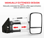 thumbnail 4 - Bettaview Extendable Towing Mirrors for Nissan Navara NP300 2015 To Current