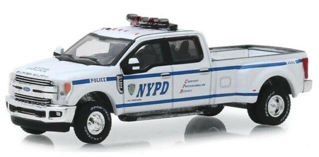 2019 Ford F-350 Lariat - Nypd, Greenlight Car Model 1:64