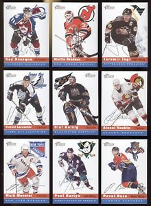 2000-01-TOPPS-HERITAGE-NHL-HOCKEY-CARD-1-TO-153-SEE-LIST