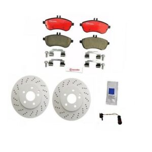 For Mercedes C300 Sport Sedan Brembo Meyle Front Brake KIT Rotors Pads Sensor