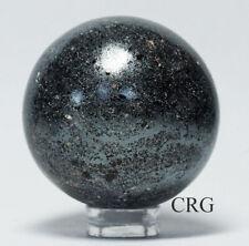 Handmade India Stormy Quartz Gemstone Sphere 40-50mm QTY-1 SPH59DG