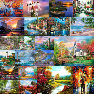 5D-DIY-Full-Drill-Diamond-Painting-Landscape-Cross-Stitch-Embroidery-Decor-Gift