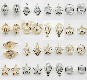 10Pcs-Gold-Silver-Plated-Hollow-Out-Crystal-Beads-Charm-Pendant-Fit-Necklace-DIY