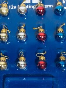 DOLLS-HOUSE-CHRISTMAS-BAUBLES-X-12-GLASS-EFFECT
