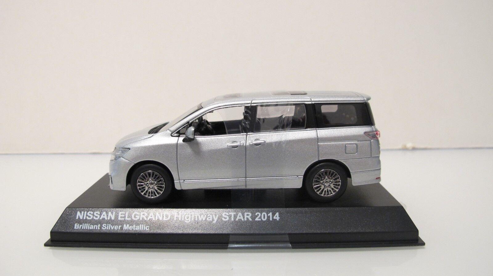 elige tu favorito 1 43 Kyosho 2014 Nissan Quest Elgrand Highway Estrella Estrella Estrella MPV Plata DIECAST COCHES  disfrutando de sus compras