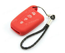 Red Remote Silicone Case Cover Holder For Kia 4 Buttons Smart Key Forte Optima