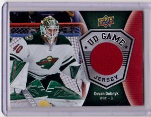 DEVAN-DUBNYK-16-17-Upper-Deck-UD-Game-Used-Jersey-GJ-DU-Minnesota-Wild-Card
