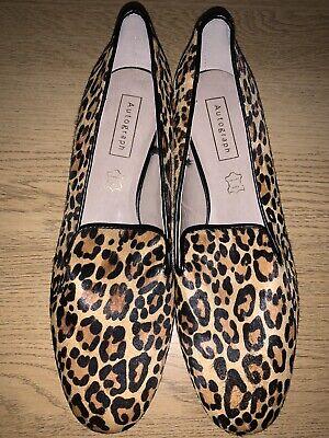 M\u0026S Leopard Print Loafers Size 7.5 UK