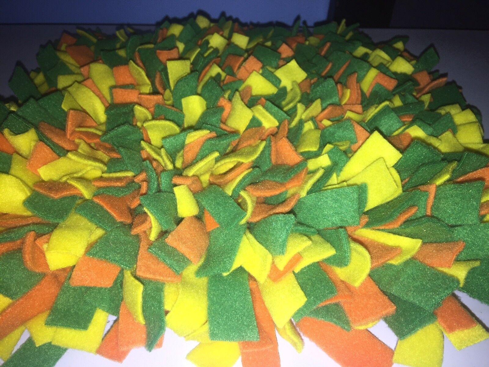 Handmade giallo verde arancia Dog Pig Snuffle Mat  Training Feeding Mats 36x24