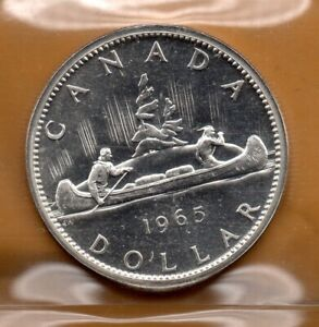 ICCS-PL65-PL-65-1965-Canada-1-Dollar-Beautiful-Heavy-CAMEO-Proof-Like-Silver