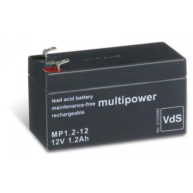Powery Ersatzakku für USV APC Back-UPS BK350-GR 12V 7,2Ah//86Wh Lead-Acid Schwar