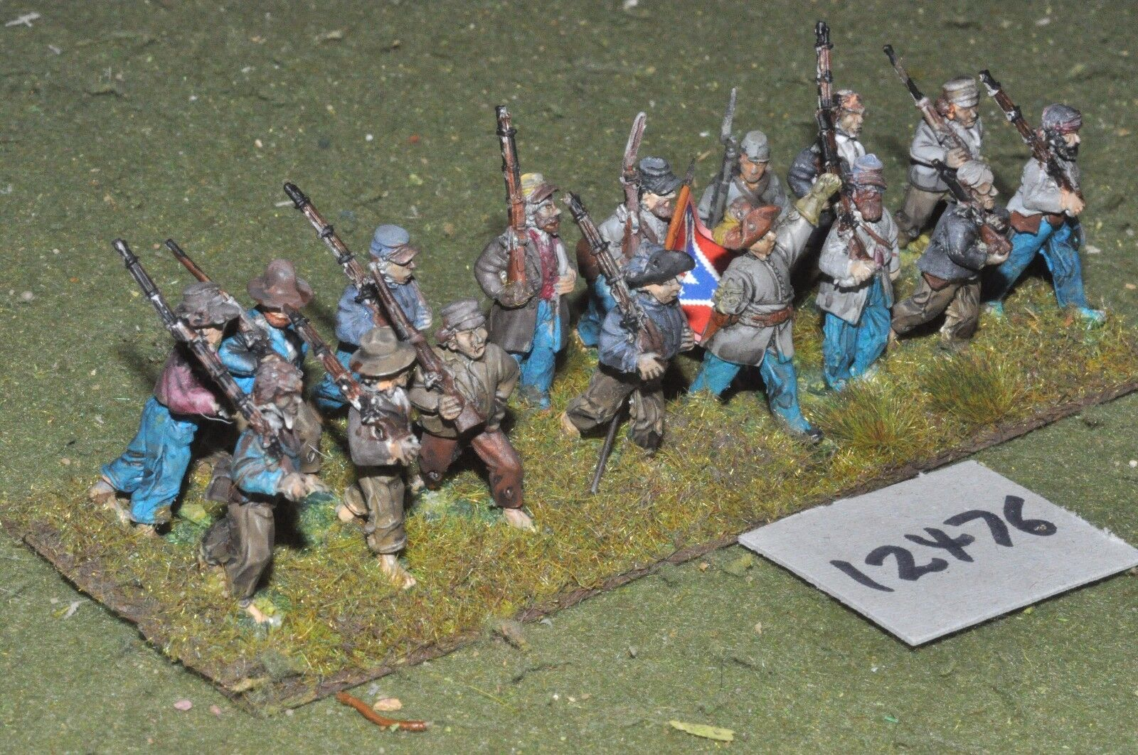 25mm ACW   confederate - american civil war infantry 16 figures - inf (12476)