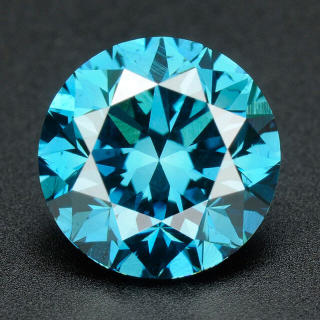 3.2 MM BUY CERTIFIED Round Fancy Blue Color Loose Natural Diamond Wholesale Lot