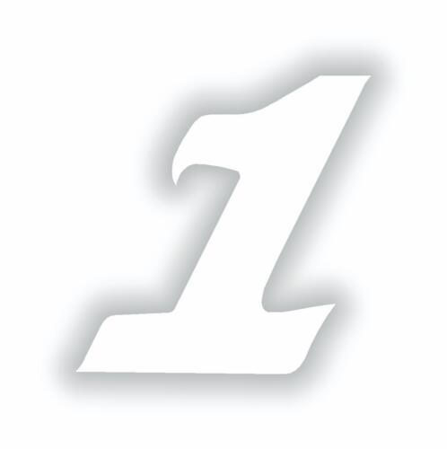 """MORE in  SHOP x1 4/"""" Digit Race Numbers vinyl stickers Style 2 White"""