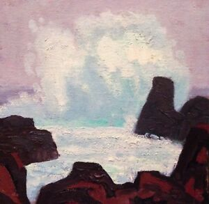 Contemporary-Marine-Seascape-Ocean-Modern-Symbolist-Wave-Art-Oil-Painting-Signed