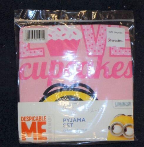 Tout caractère Filles Exchainstore Minions Cup Cake Pyjamas 2//3 à 12//13 ans