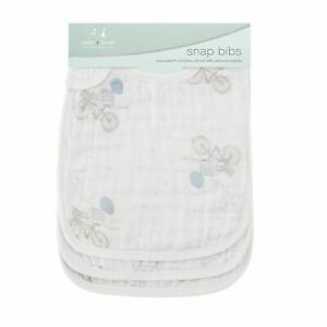Aden and Anais 3 Pack Classic Snap Bibs - Night Sky Reverie