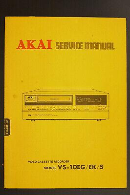 Akai Vs-10eg/ek/s Original Videorecorder/vhs Service-manual/diagram/parts List